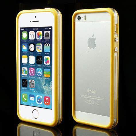 Silikon Bumper Apple Iphone 5 apple iphone 5 5s tpu bumper silikon schutzh 252 lle cover original transparent ebay