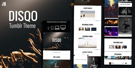 themes for tumblr with music disqo portfolio blogging tumblr theme by artistic