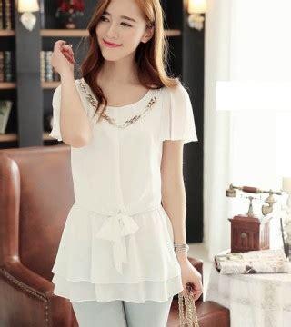 Baju Atasan Blouse Deby Top Putih Fashion Cewek Pakaian Wanita baju atasan cewek terbaru model terbaru jual murah import kerja