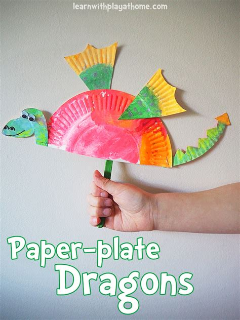 Arts And Craft Paper - simple paper plate craft crafts dragons
