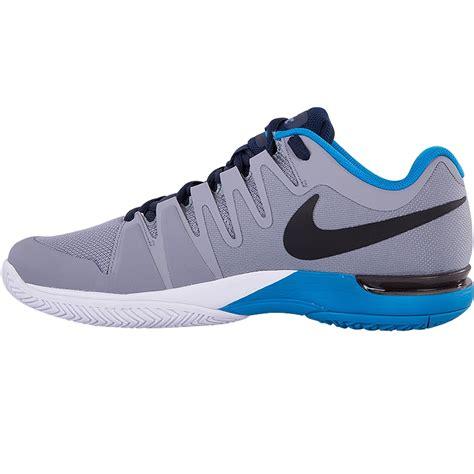 nike mens tennis shoes nike zoom vapor 9 5 tour s tennis shoe grey blue