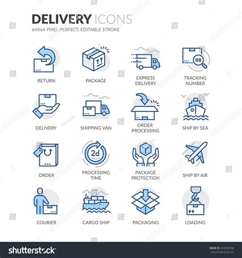 find related colors simple set delivery related color vector varastovektori 424390768 shutterstock