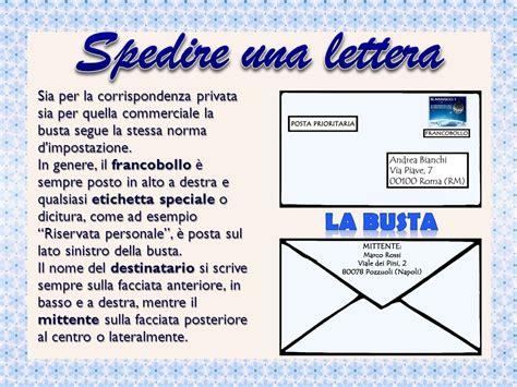 spedire lettere la lettera personale la lettera 232 una comunicazione