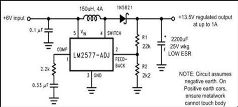 len 6v 6v to 12v dc converter circuits