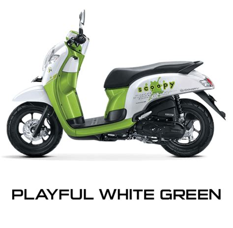 Modifikasi Scoopy 2017 Hitam Putih by Honda Scoopy 2017 Putih Hijau Warungasep