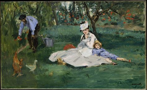 file 201 douard manet the monet family in their garden at - The Monet Family In Their Garden At Argenteuil