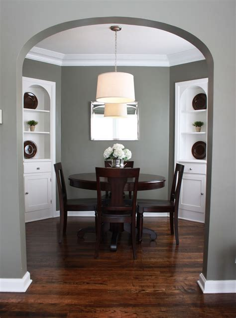 Grey Dining Room Colour Scheme Numbered Designs Paint Colors