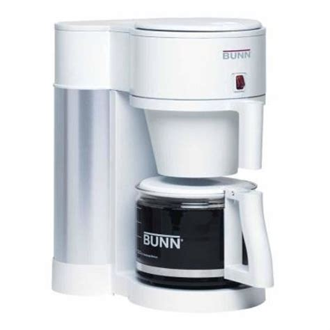 bunn 10 cup contemporary home coffee maker in white