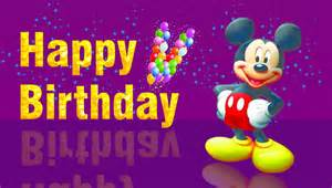 micky mouse saying happy birthday wallpaper