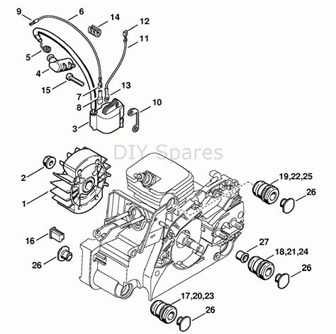 stihl ms 170 parts diagram stihl ms 170 chainsaw ms170d parts diagram intended for