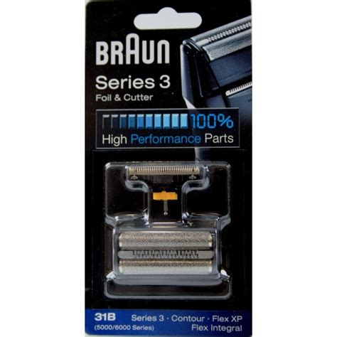 grille rasoir braun serie 3 grille couteau 31b pour rasoir braun flex integral serie