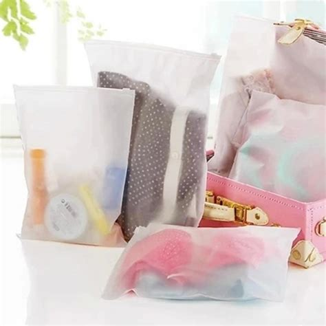 aliexpress ziplock bags 3pcs lot new matte frosted travel pouch storage waterproof