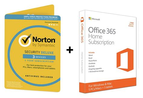 Norton Security 3 User microsoft office 365 home and norton security 3 user