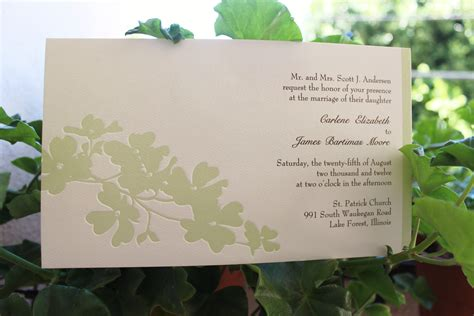 eco friendly garden wedding invitations