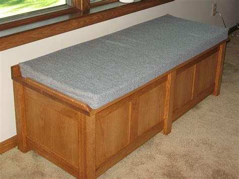 cushion storage bench storage bench with cushion seat home design ideas