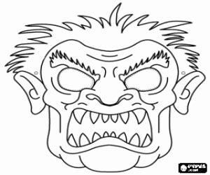 monster mask coloring page carnival coloring pages printable games 2