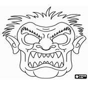 Coloriage Masque De Monstre Pour Carnaval &224 Imprimer