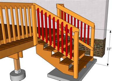 fitting banister spindles deck stair railing plans myoutdoorplans free woodworking plans and projects diy