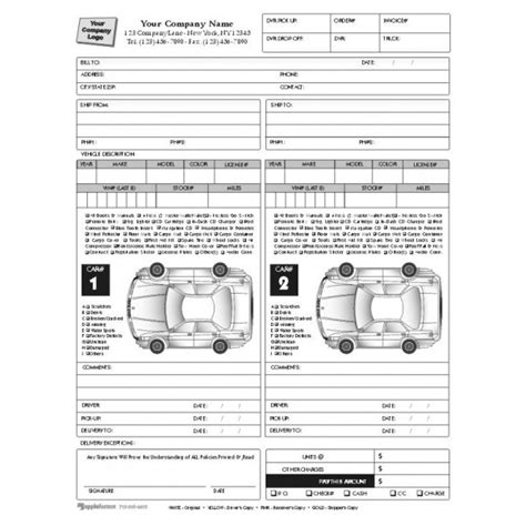 vehicle condition report template condition report forms automobile forms standard forms