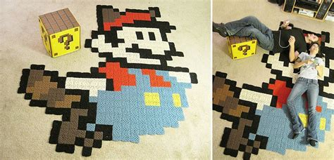 8 bit rug 10 colorful and creative diy rugs and mats to brighten your home decor advisor