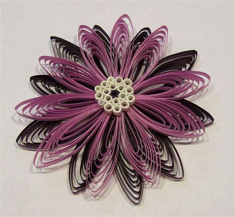 Handmade 3d Flowers - handmade 3d quilling or quilled flower ornament by claynfaye