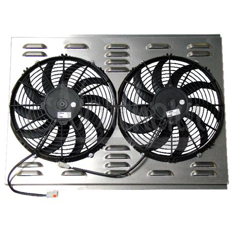 electric radiator fans and shrouds northern radiator dual 12 quot electric fan shroud 18 1
