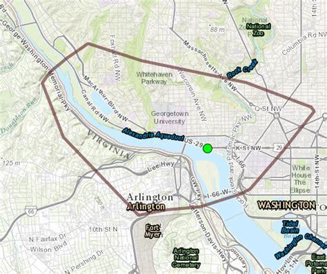 washington dc map my run potomac inundation maps now available