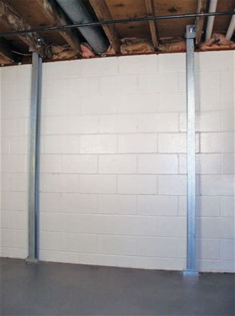 basement wall support i beams the powerbrace wall repair system installation in arkansas i beam system for failing basement