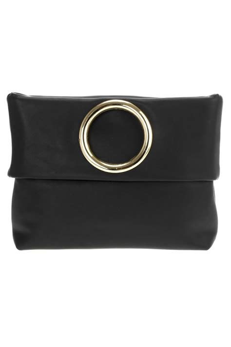 Metal Ring Clutch solid flat or flap o metal ring clutch with chain
