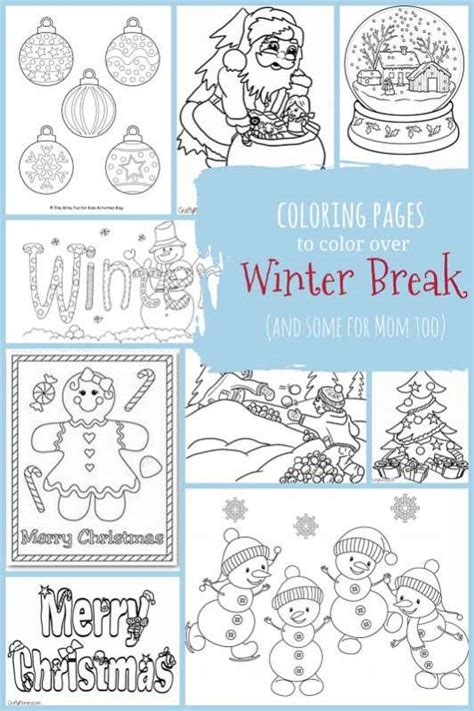 Winter Break Coloring Page | christmas winter coloring pages for kids to color