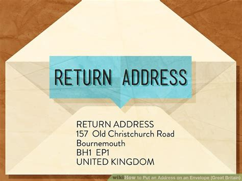where to put the address on a letter how to put an address on an envelope great britain