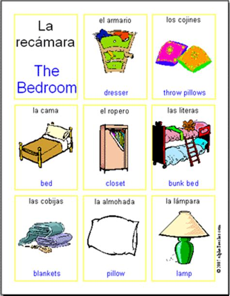 spanish word for bedroom spanish words lookup beforebuying
