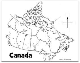 map of canada with labels south korea for layers of learning