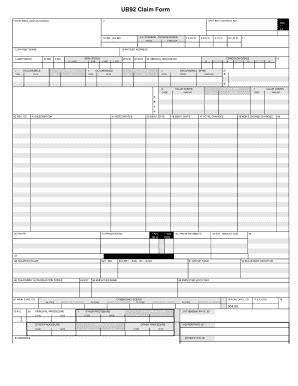 Image Of Ub 92 Fill Printable Fillable Blank Pdffiller Ub 92 Form Fill Printable Fillable Blank Pdffiller