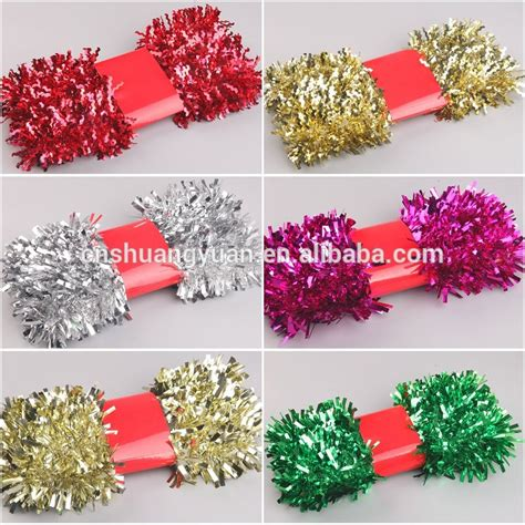 decorative christmas blue pet tinsel garland indoor