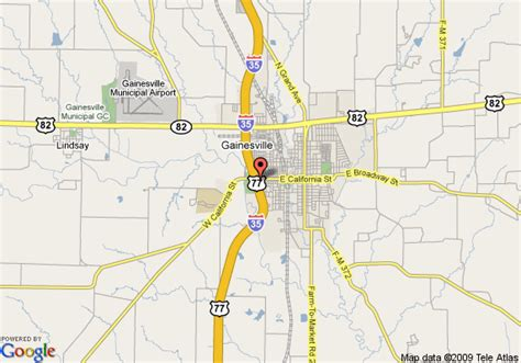 map of gainesville texas map of quality inn gainesville gainesville