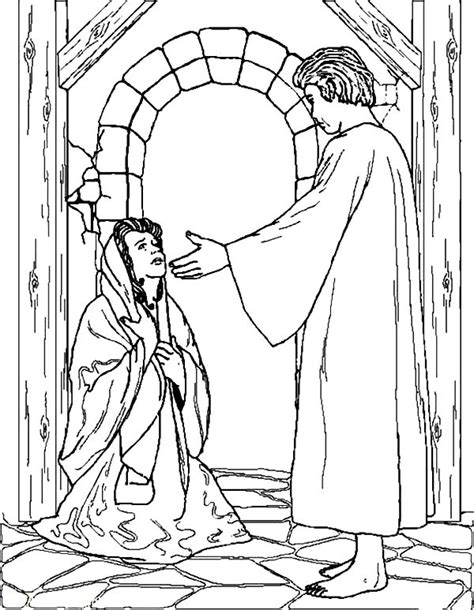 angel gabriel coloring page saint thomas more coloring