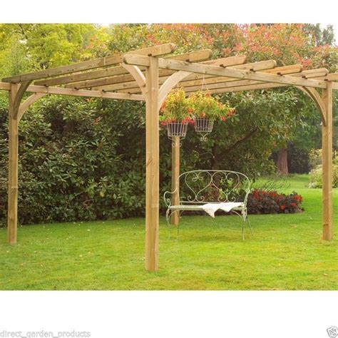 wooden garden pergola 10ft 12ft wooden pergola pressure treated timber garden