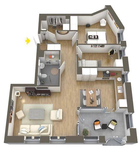 Floor Plan 1200 Sq Ft House by 20 Plantas De Apartamentos De 2 Quartos Limaonagua