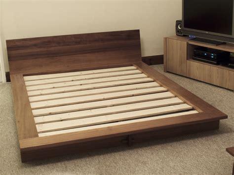 japanese style platform bed iroko platform bed bespoke handmade bedroom furniture brighton sussex tekton