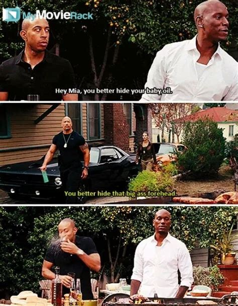 Fast And Furious You Better Hide Your Baby Oil | roman hey mia you better hide your baby oil hobbs you
