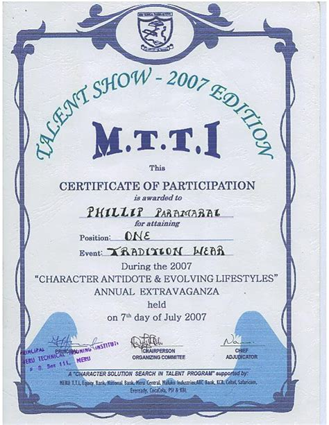 talent show certificate template antagonist placeholder