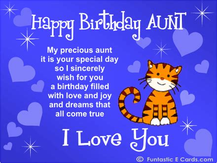 Happy Birthday Auntie Quotes Free Online Family Birthday Cards E Birthday Messages For