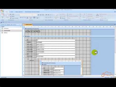 youtube tutorial access 2007 tutorial microsoft access 2007 creaci 243 n de formularios