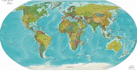 Physical Map Of The World by Political And Physical World Map Mapsof Net