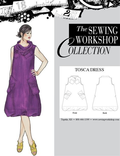 Dress Tosca a sewing tosca dress from the sewing workshop