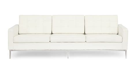 florence knoll sofa ebay florence knoll style sofa 3 seat white premium