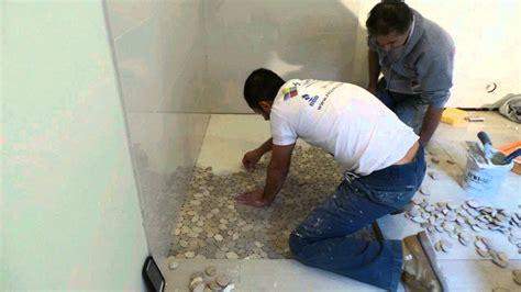 Bathroom Feature Tile Ideas shower floor pebble stone time lapse youtube