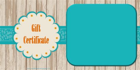 photo gift certificate template printable gift certificate templates