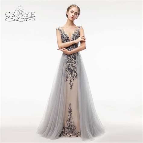 Luxe To Less Tulle Prom Dress by Aliexpress Buy Qsyye Luxury Beading Prom